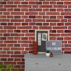 Apportez de l'authenticité à votre pièce avec ce papier peint BRIQUES !  Sa couleur terracotta réchauffera votre intérieur.  Cette imitation reproduit avec fidélité un mur de briques pour un effet trompe-l'oeil garantit !  Donnez de la personnalité et du caractère à vos murs ! Steampunk Bedroom, Harry Potter Birthday, Garage Doors, Outdoor Decor, Home Decor, Orange, Walls, Easy Halloween, Home Decor Ideas