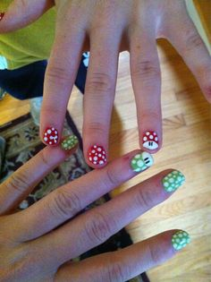 Mario and Luigi nails