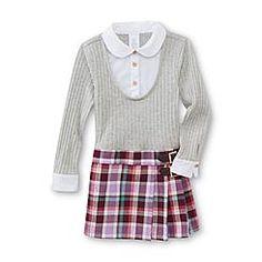 WonderKids Infant & Toddler Girl's Layered Look Dress - Plaid