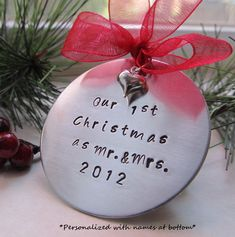 Baby's First Christmas Ornament by XpressiveMpressions on Etsy