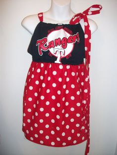Game Day T Shirt Dress Upcycled Rangers Size by dollhousedecortx, $49.95