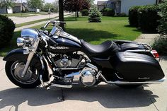 Road king, customized ex-police bike