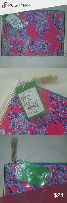 NWT Lilly Pulitzer Seaspray Pouch Pink Samba Brand new. Lilly Pulitzer Bags