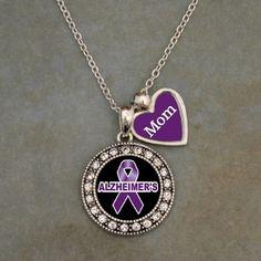 Custom Loved One Alzheimer's Awareness Necklace