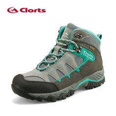 Clorts Women's Hiking Shoes Waterproof Sneakers Outdoor Tactical Shoes Genuine Leather Women Breathable Hiking Boots HKM-823