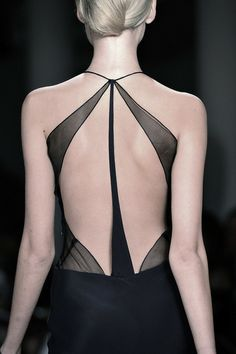 That back. lace. sheer. geometric. black.