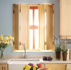 23-solid-wood-shaker-style-shutter-winchester-hampshire Diy Interior Window Shutters, Wooden Window Shutters, Indoor Shutters, House Shutters, Interior Windows, Wood Windows, Inside Shutters For Windows, Bedroom Shutters, Small Bathroom Window