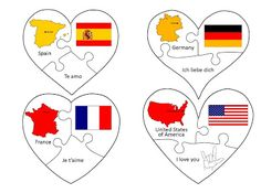 Love in many languages puzzles. Free download!