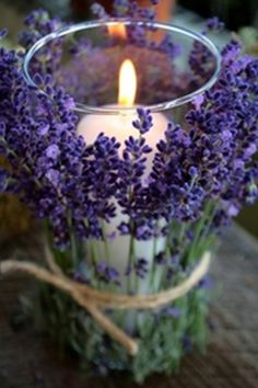 I love this idea - Lavendar Candle