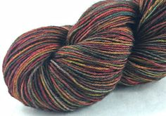 Hand Dyed Sock Yarn Superwash Wool Nylon 75/25 100g /437 yd: RUSSET