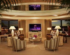 Ultra Modern Hospitality Interior Design Encore Hotel at Wynn Las Vegas Living Room