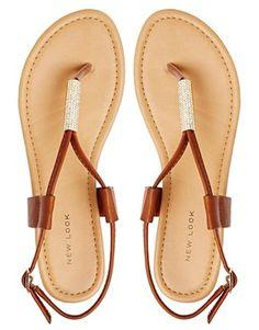 Image 3 - New Look - Fuse - Sandales plates à entredoigt - Fauve