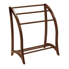 Quilt Rack - Winsome Wood spare linens within reach. Rack holds 3 quilts or bath towels. Beautiful walnut finish easily coordinates with existing Features: Blanket racks stands at x x bed spread or quilts. Blanket Rack, Blanket Ladder, Blanket Storage, Quilt Storage, Wood Furniture Legs, Furniture Repair, Walnut Furniture, Furniture Ideas, Bedroom Furniture
