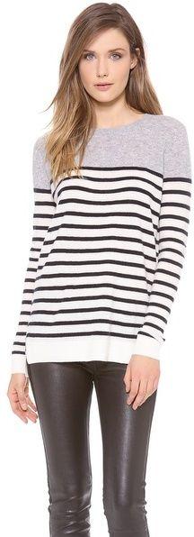 Vince Colorblock Breton Cashmere Sweater on shopstyle.com