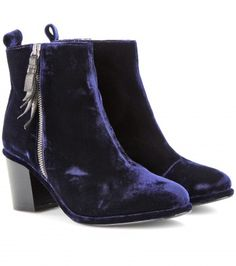 mytheresa.com - mytheresa.com exclusive Shirley velvet ankle boots - Luxury Fashion for Women / Designer clothing, shoes, bags