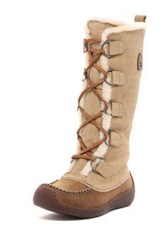 72b3f2f307c  260 Sorel Chugalug Tall Womens size 6 Leather Winter Boots Laurel Leaf  BNIB Ugg Shoes