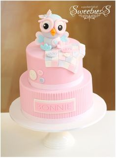 Owl cake for baby shower