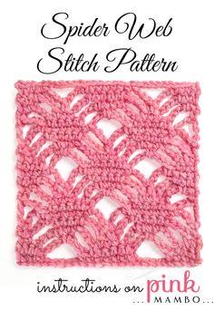 spider web stitch pattern