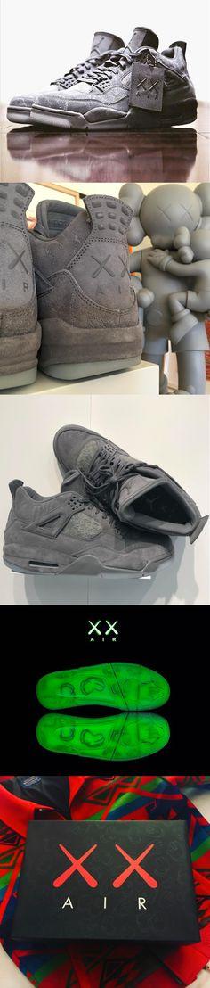 half off 83196 b8fa6 KAWS x Nike Air Jordan IV Sneakers Nike Jordan, Nike Air Jordans, Shoes  Sneakers