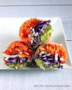 Rainbow Spring Rolls. #food