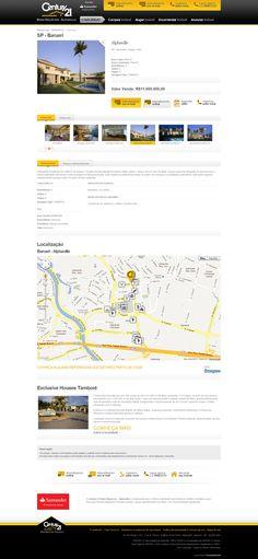 Site da C21 Alphaville, maior rede imobiliária do mundo. Imóvel integrado com o Foursquare. (2011)
