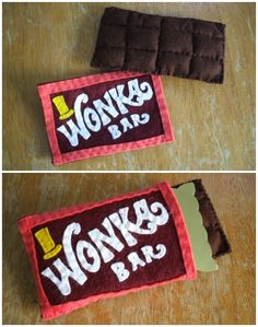 Wonka Bar Made Of Felt | Book Week costume