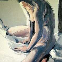 "Robert Bubel; Oil, 2012, Painting ""'Morning. Nude'"""