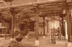 Weaving Mill In Omkareshwar II by Four Hands Art Photography For Sale, Hand Art, Taking Pictures, Art Forms, Weaving, Around The Worlds, Hands, Painting, Painting Art