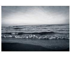 Photographie paysage mer décor mural noir et blanc par MyMonography, £20.00