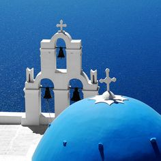 Przymiarka do wakacji? Santorini Blues by MarcelGermain, via Flickr