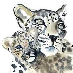 Nature Drawing - Maternal Bond by Mark Adlington
