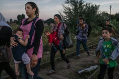 Refugees from Syria walked down the railway in Horgos, Serbia, on Sunday before crossing into Hungary. Credit Mauricio Lima for The New York Times New York Times, Ny Times, Forced Migration, Moving Photos, Refugee Crisis, Syrian Refugees, Recent Events, Photography Awards, Best Photographers
