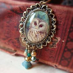 Reserved Wise Owl pendant necklace by freerangeart on Etsy / With cute Gift Box! <3 <3 <3