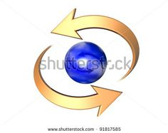 Cyclic Arrow Turning On Itself, Representing Notions Such As Synchronization, Connection, Process, Movement, Cyclical Phenomenon, Renewal, Repetition, Rotation, As Well Time Which Is Going Stock Photo 91817585 : Shutterstock