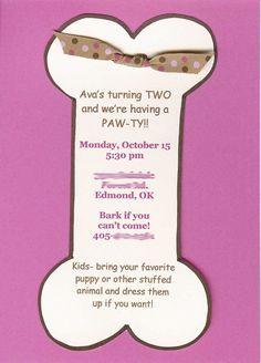 Orginal tarjeta para fiesta de la Patrulla Canina. #invitaciones #Pawpatrol