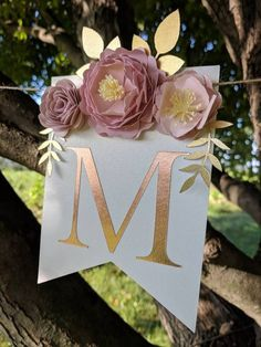 Personalized paper flower garland with blush peonies, Bachelorette party banner, Wedding last name sign, Baby shower paper flower backdrop FLORAL PARTY Paper Flower Garlands, Paper Flower Backdrop, Paper Flowers, Paper Peonies, Bachelorette Party Banners, Rose Gold Paper, Blush Peonies, Blush Pink, Floral Banners
