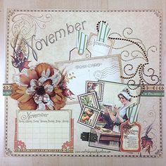Pinsday: @Anna Totten Totten Totten Totten Totten Nadal 45® Place in Time Calendar // November #readysetlove #graphic45