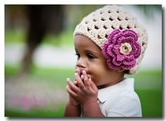 Cream Skull cap with rose flower  fits 6 12 mo by cjboutiques, $10.00