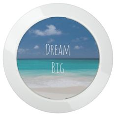 Beautiful Water Beach Personalized Image and Text USB Charging Station -  Beautiful Water Beach with blue sky Personalized Image and Text or keep dream big inspirational quote    ... #custom #beach themed #gift #limitlessinnovation  chargehub design by #p