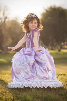 Let's dress up like Sofia the First. This dress I bought for my girl and it is beautifull !