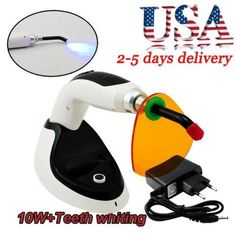 10W Cordless LED Dental Curing Light Lamp1800MW W Teeth Whitening Accelerator
