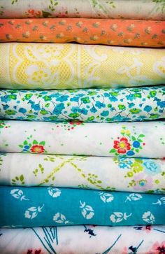 vintage fabrics awaiting something new
