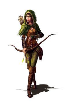 Female Human Ranger - Ironfang Invasion - Pathfinder PFRPG DND D&D d20 fantasy