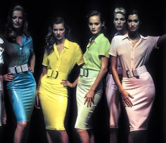 Karen, Kate, Amber, Emma & Yasmeen walked for Versus by Versace 1995