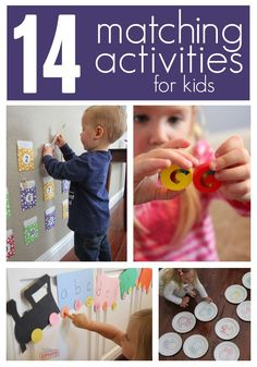 Toddler Approved!: Matching Activities for Kids Toddler Learning Activities, Games For Toddlers, Montessori Toddler, Infant Activities, Fun Learning, Preschool Activities, Cognitive Activities, Indoor Activities, Toddler Fun