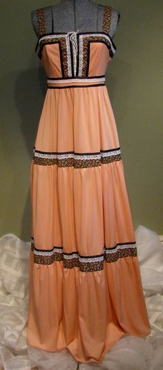 Vintage Maxi dress--maybe it is the lace up fronts that I really like the most.