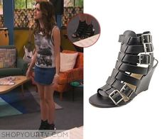 Ally Dawson (Laura Marano) wears these multi-buckle black wedges in this week's episode of Austin & Ally. They are theVince Camuto Martez [...]