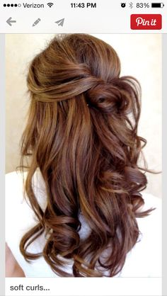 Hair for wedding!I like this , its different, interesting and you can't go around like this every day so why not have it on your special day?   Great for bridesmaids too.