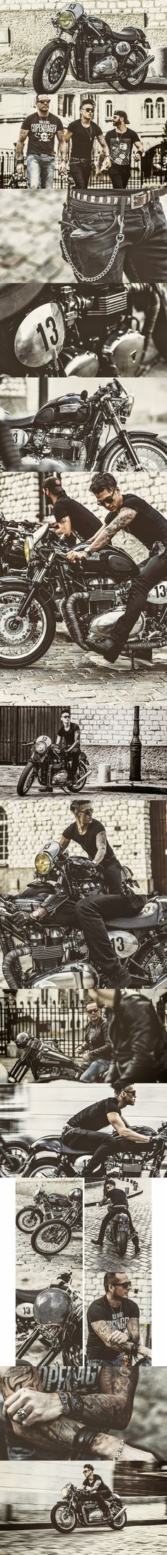 Triumph The Three Horsemen Men's Bike Series July 2014https://www.behance.net/gallery/The-Three-Horsemen/12195489 --- caferacer #motorcycles #motos | caferacerpasion.com Más Más