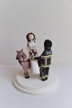 individual wedding figures www. Wedding Cake Figurines, Wedding Titles, Wedding Pinterest, Fire Department, Firefighter, Wedding Cakes, Horses, Sport, Newlyweds